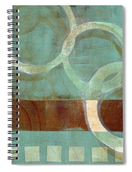 Dangling Conversation Monoprint Spiral Notebook