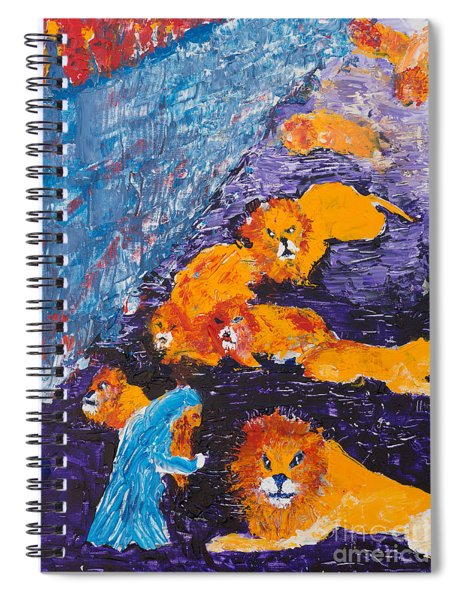 Daniel And The Lions Spiral Notebook