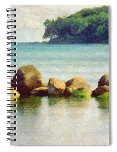Danish Coast On The Rocks Spiral Notebook