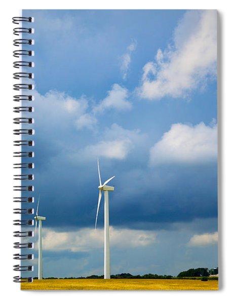 Danish Wind Turbines Spiral Notebook