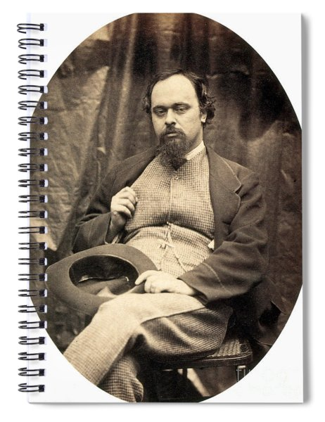 Dante Gabriel Rossetti English Poet Spiral Notebook