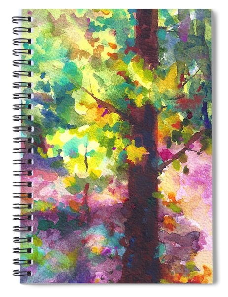 Dappled - Light Through Tree Canopy Spiral Notebook