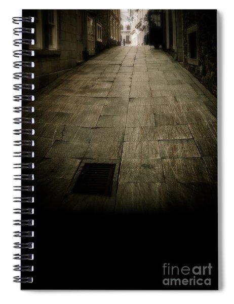 Dark Alley In Old Historic City Spiral Notebook