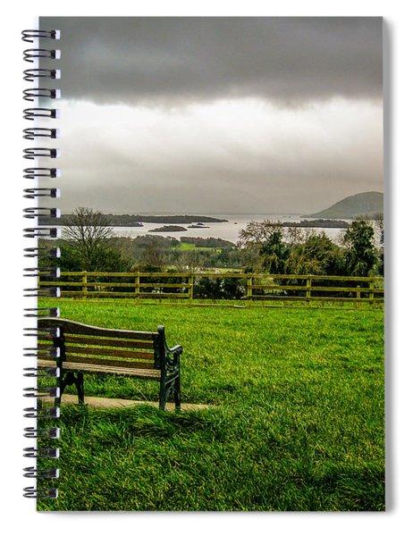 Dark Clouds Over Killarney Lakes Spiral Notebook