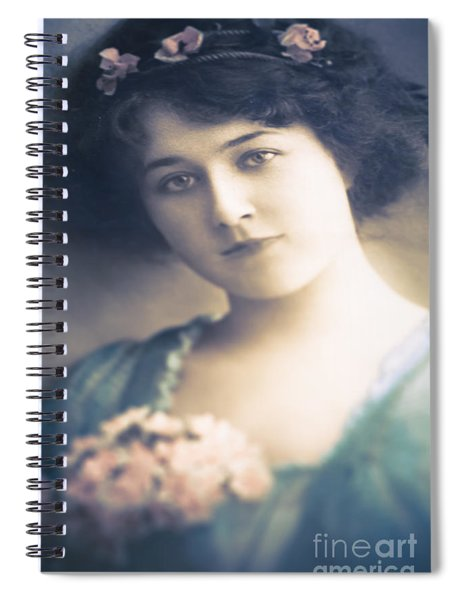 Dark Haired Beauty Spiral Notebook