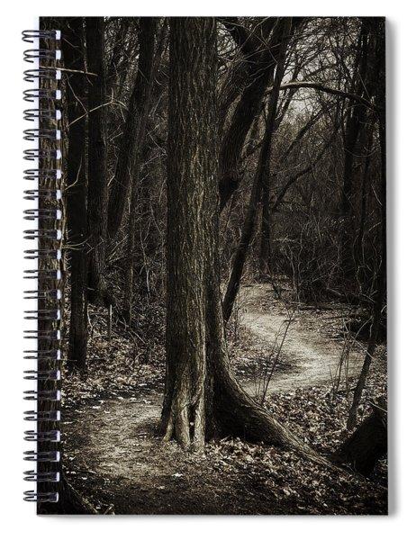 Dark Winding Path Spiral Notebook