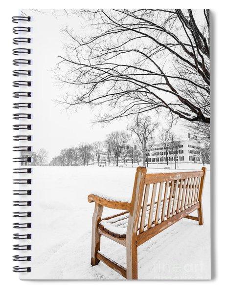 Spiral Notebook featuring the photograph Dartmouth Winter Wonderland by Edward Fielding