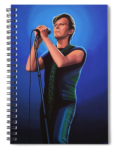 David Bowie 2 Painting Spiral Notebook