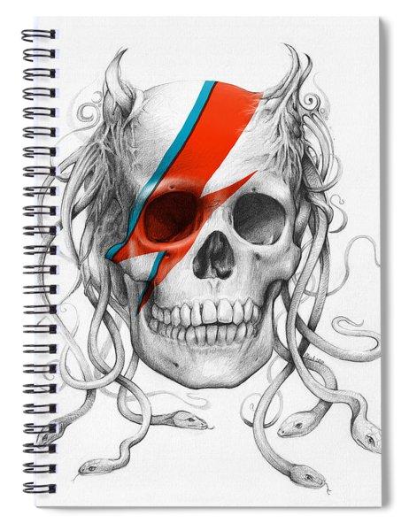 David Bowie Aladdin Sane Medusa Skull Spiral Notebook