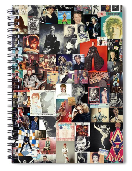 David Bowie Collage Spiral Notebook