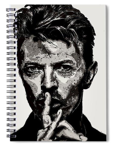 David Bowie - Pencil Spiral Notebook