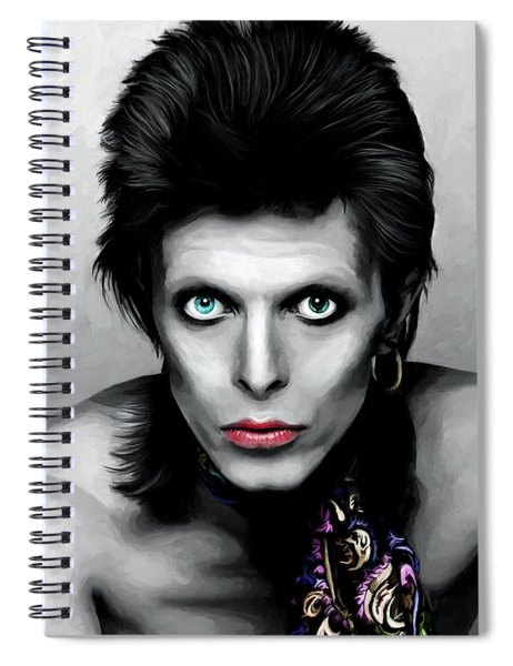 David Bowie The Chameleon Spiral Notebook