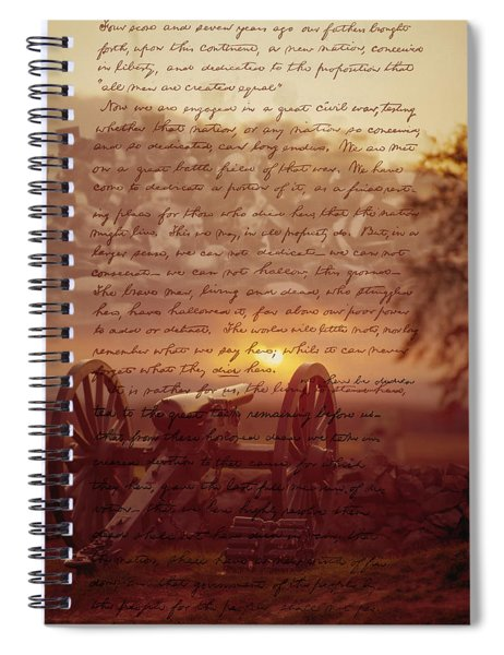 Dawn At Gettysburg Spiral Notebook