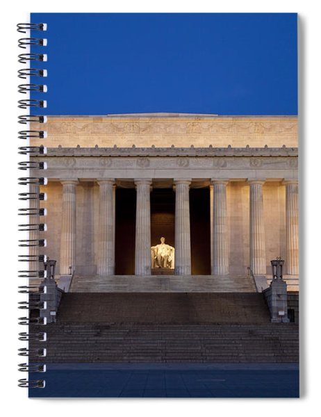 Spiral Notebook featuring the photograph Dawn At Lincoln Memorial by Brian Jannsen