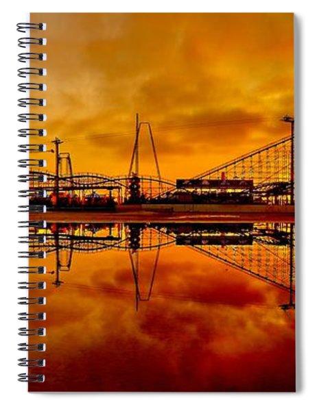 Dawn At Wildwood Pier Spiral Notebook