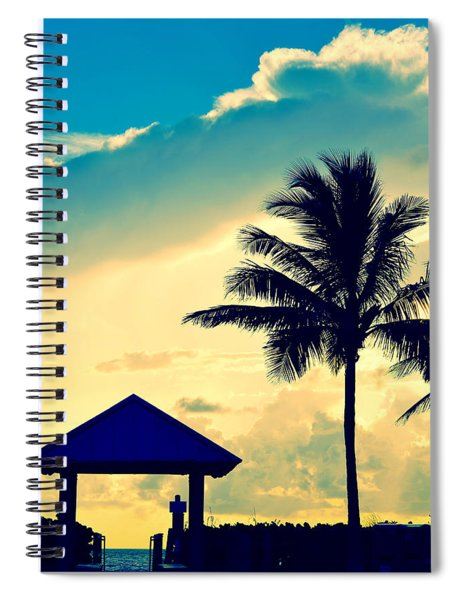 Dawn Beach Pyramid Spiral Notebook