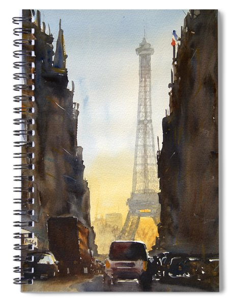 Dawn In Paris Spiral Notebook