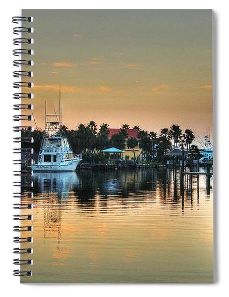 Dawn On A Orange Beach Canal Spiral Notebook