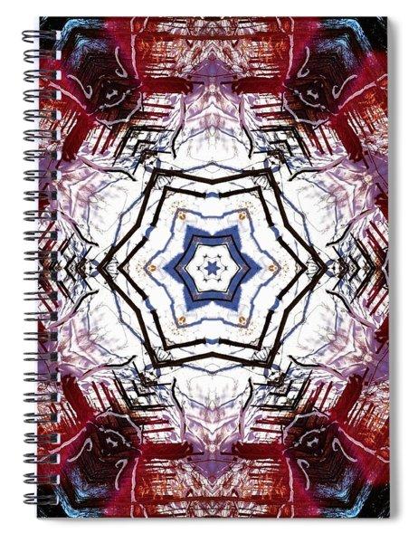 Spiral Notebook featuring the digital art Dawning Sun Flare by Derek Gedney