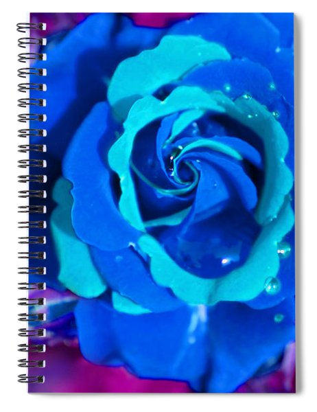 Daydreaming Blue Rose Spiral Notebook