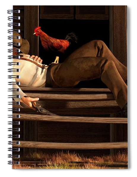 Deaf To The Rooster's Call Spiral Notebook