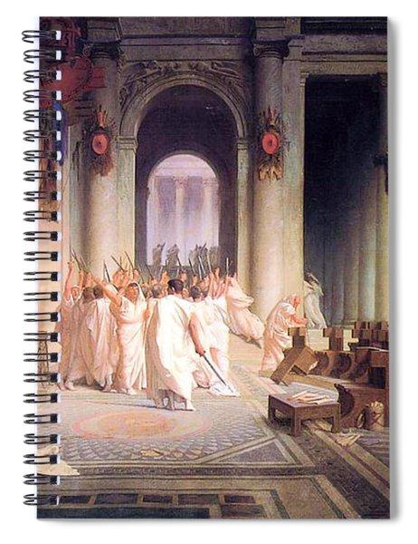 Death Of Caesar Spiral Notebook