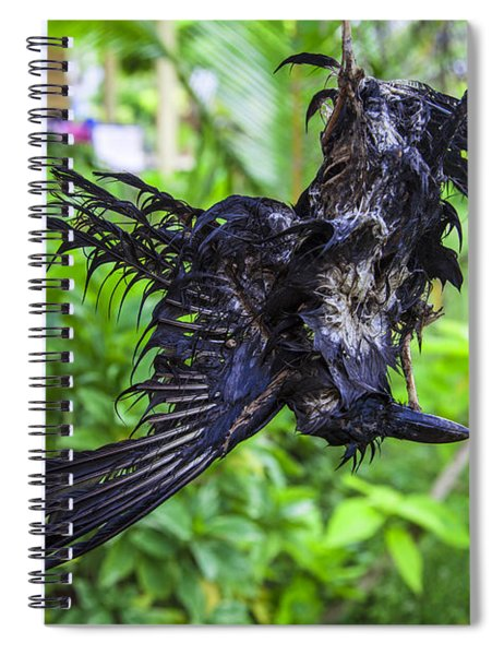 Death Raven Hanging In The Rope Spiral Notebook