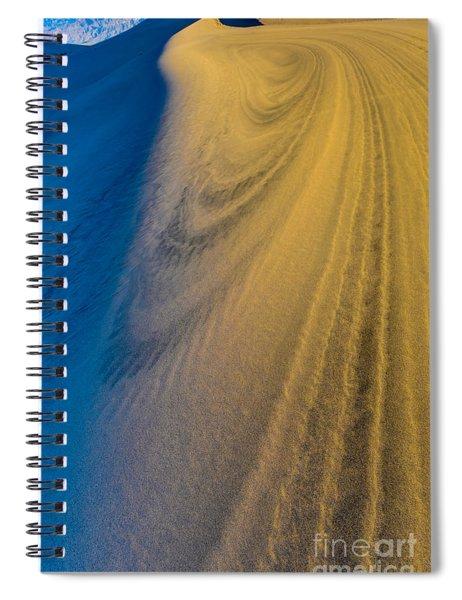 Death Valley Sunset Dune Wind Spiral Spiral Notebook