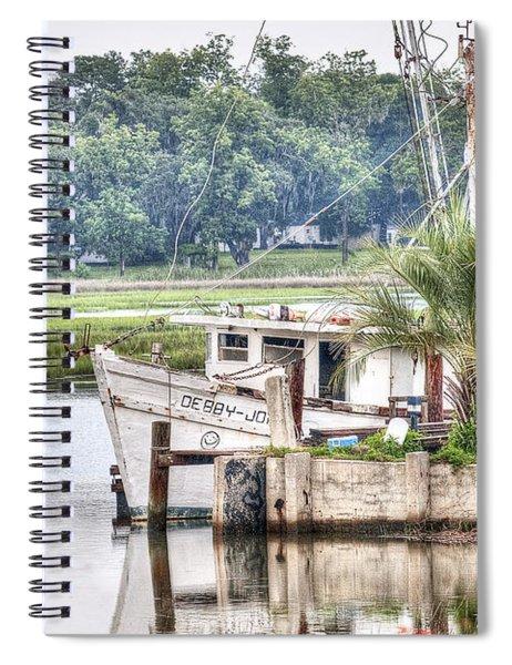 Debby John Shrimp Boat Spiral Notebook