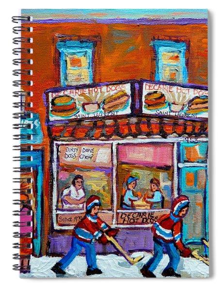 Decarie Hot Dog Restaurant Ville St. Laurent Montreal  Spiral Notebook