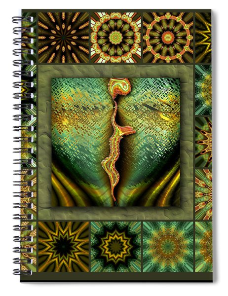 Decaying Moon Redux Spiral Notebook