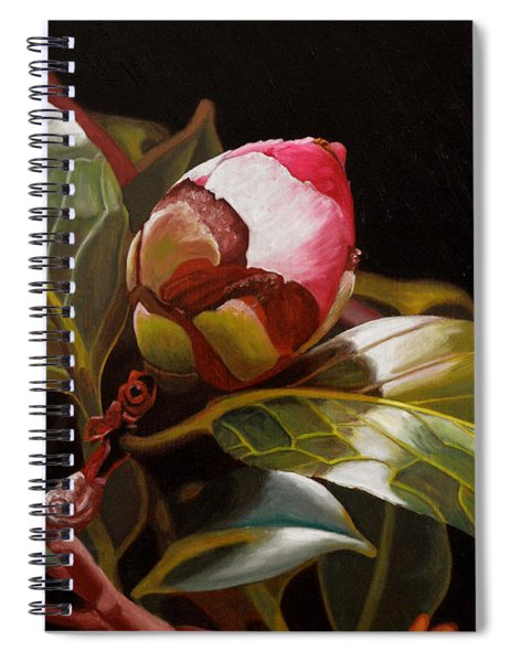 December Rose Spiral Notebook