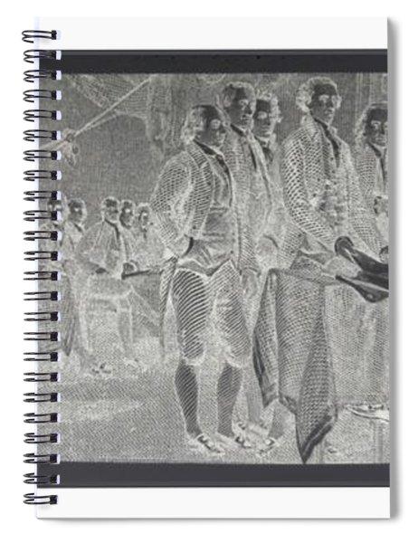 Declaration Of Independence In Negative Spiral Notebook