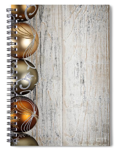 Decorated Christmas Ornaments Spiral Notebook