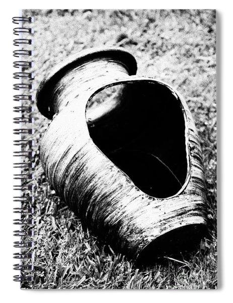 Decorative Pottery Spiral Notebook