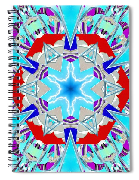 Deep Blue Geometry Spiral Notebook