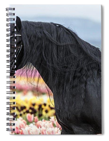 Deep In The Fields Spiral Notebook