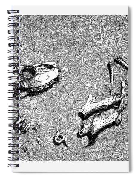 Deer Bones Spiral Notebook