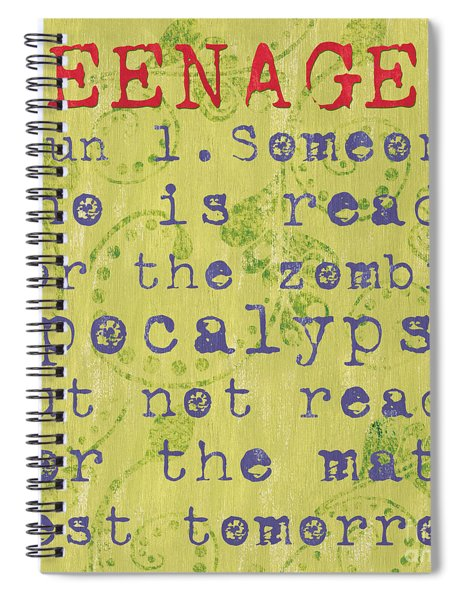 Definition Of Teenagers Spiral Notebook