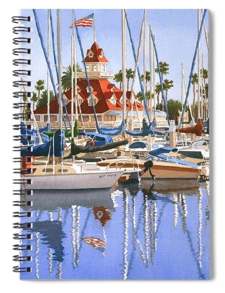 Del Coronado Boathouse Spiral Notebook