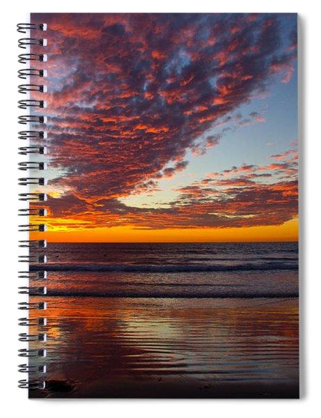 Del Mar Sunset 14 Spiral Notebook