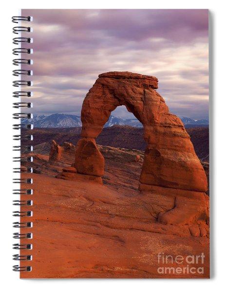 Delicate Arch Dusk Spiral Notebook