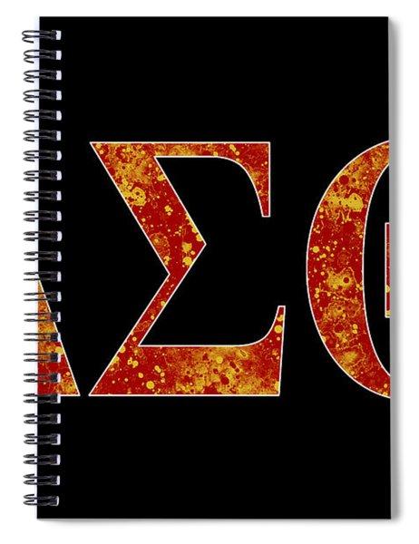 Delta Sigma Theta - Black Spiral Notebook