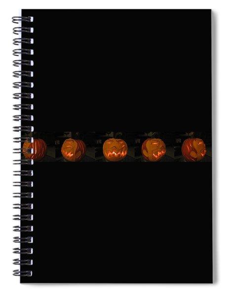 Demented Mister Ullman Pumpkin 2 Spiral Notebook