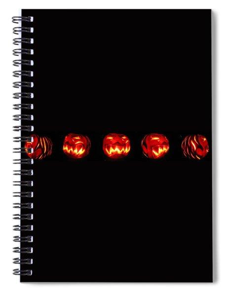 Demented Mister Ullman Pumpkin Spiral Notebook