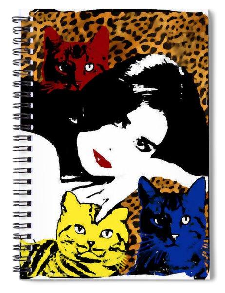 Demi Moore Spiral Notebook