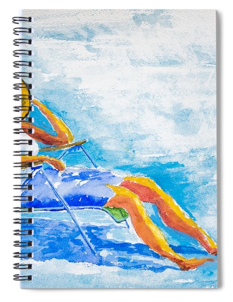 Dena At The Beach Spiral Notebook