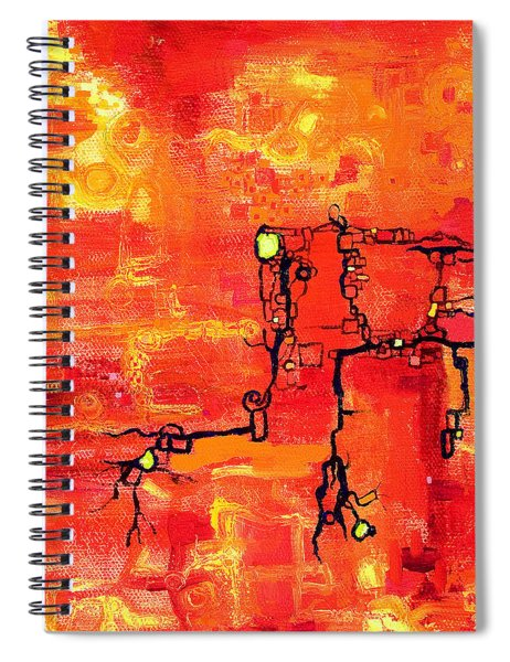 Dendritic Echoes Spiral Notebook