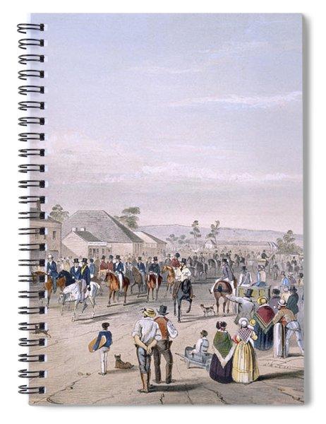 Departure Of Captain Sturt Spiral Notebook