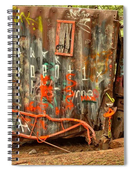 Derailed In The Woods Spiral Notebook